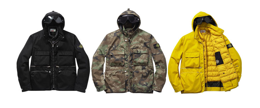 supreme x stone island fall winter 2014 capsule collection. Black Bedroom Furniture Sets. Home Design Ideas