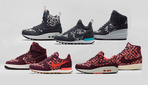 Nike X Liberty of London 10th Collaboration Holiday Collection.  Nike_x_Liberty_Red_And_Blue_Pack_1