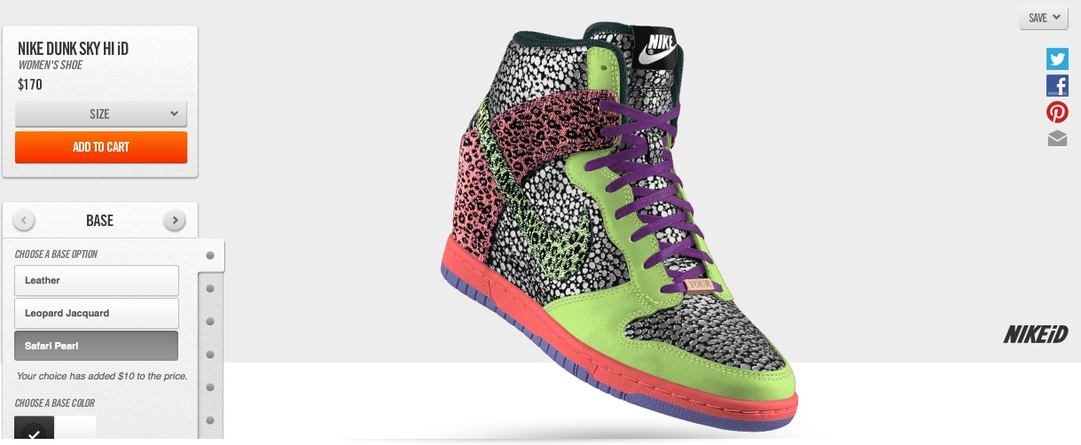 Nike Dunk Sky Hi Now Available for Customization on NikeID 461862d6f